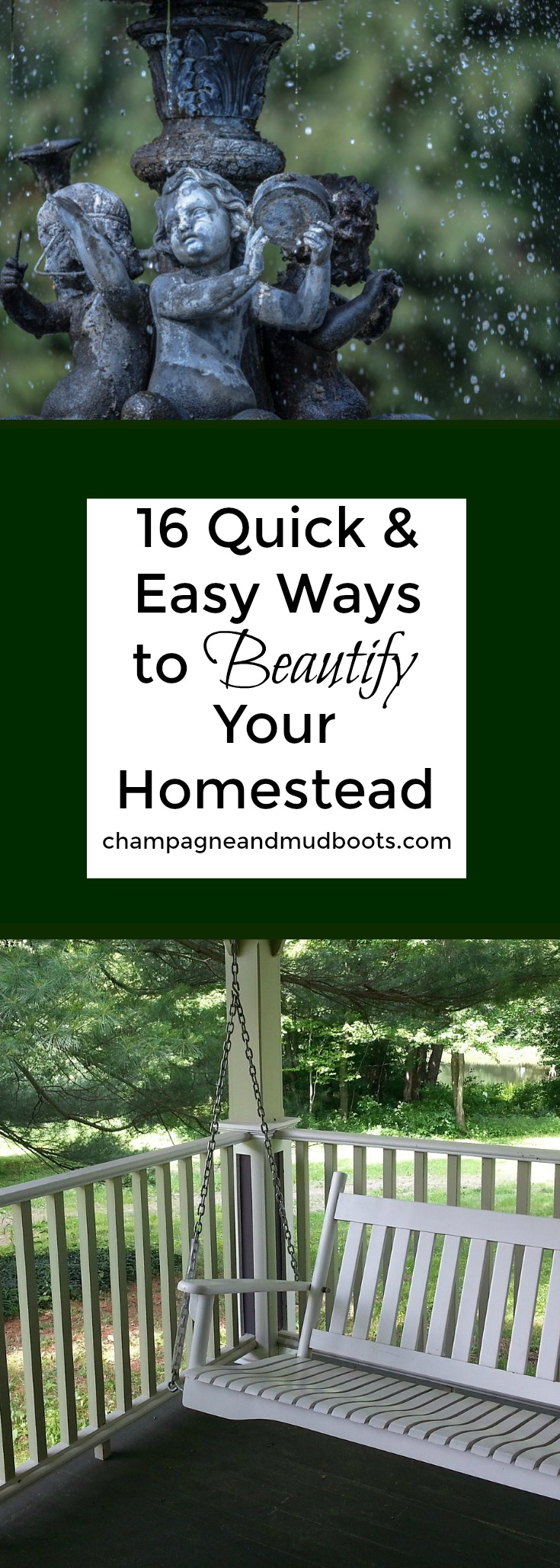 Tips and easy ideas to beautify and enjoy your homestead by creating a more elegant living experience everyday and for your guests.