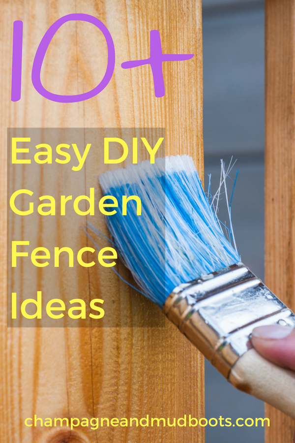 DIY garden fence ideas that include cheap and easy projects with links on how to build them to protect veggies from dogs, deer and rabbits.