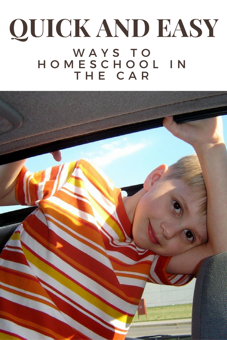 Easy and simple ways to sneak in extra homeschool in the car and gain back some extra learning time during your car commute.