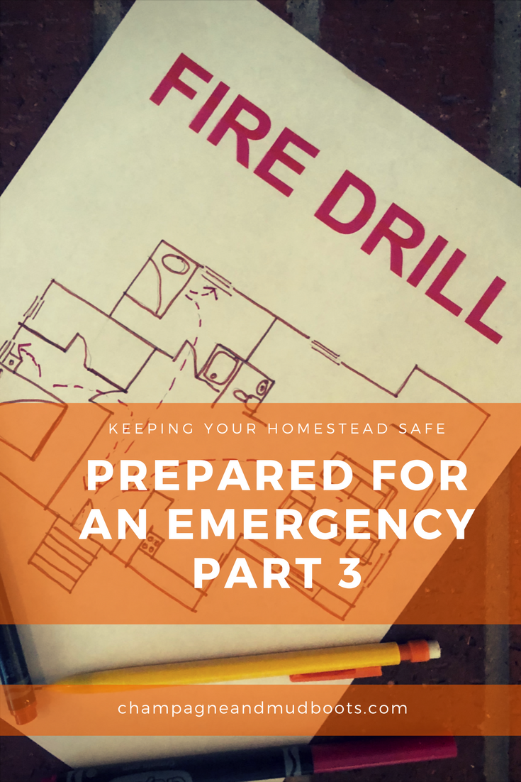 Tips to keep your Homestead Prepared for an Emergency focusing on Electricity and Gas, Weather Emergencies and Drills to Practice Ahead of Time.