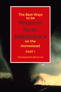 This article provides practical and easy solutions to keep you and your homestead prepared for an emergency whether big or small.