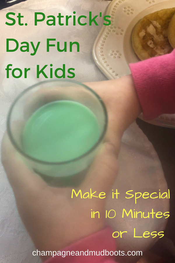 Easy St. Patrick's Day ideas to create a magical St. Patty's for kids in 10 minutes or less including activities, food, and crafts.